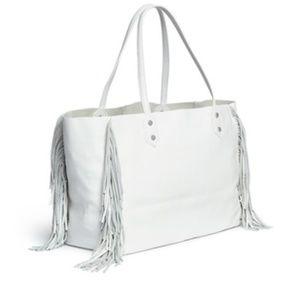 Edelman Payton Leather Fringe Tote Bag.